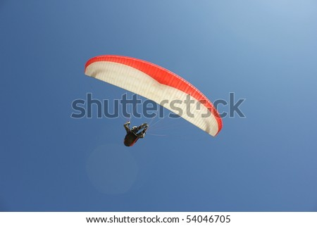 Paragliding on the Beach - stock photo