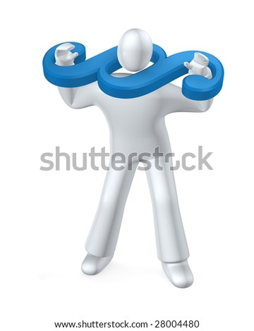 Paragraph symboll - person  in law stocks - v3 - stock photo
