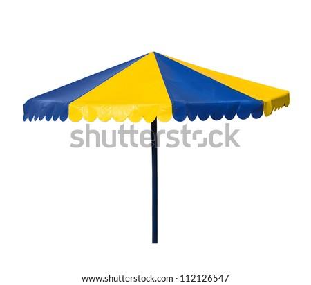 parasol isolated on white - stock photo
