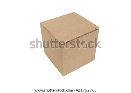 Parcel isolated - stock photo