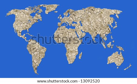 parched earth - global warming - stock photo