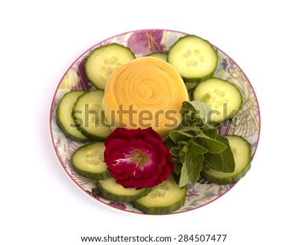 Parenica cheese on a white background - stock photo