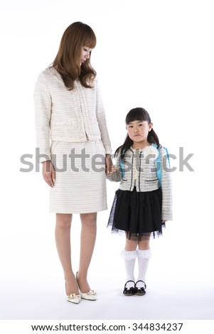 Parent-child entrance ceremony - stock photo