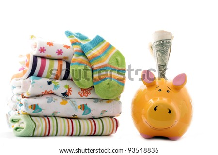 Parenting expenses - stock photo