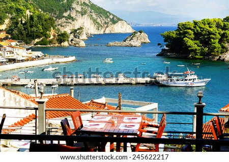 Parga - tourist resort in Greece. - stock photo