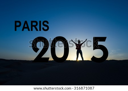 Paris climate change conference 2015 concept - stock photo