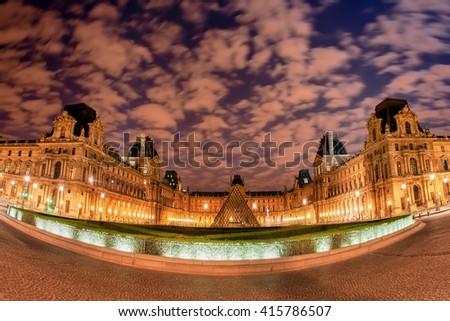 PARIS, FRANCE - AUG 15, 2008 : Louvre Museum  - stock photo