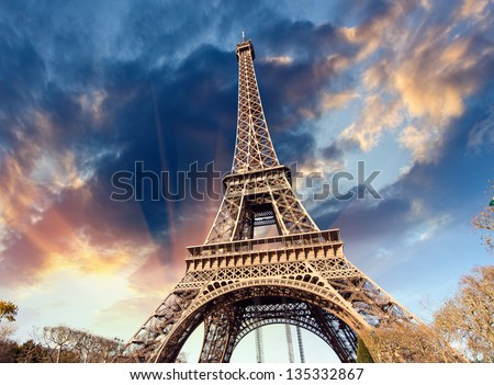 Paris, France. Famous Landmark of France Capital. - stock photo