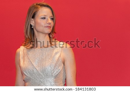 PARIS, FRANCE - FEBRUARY 25, 2011 : Actress Jodie Foster at  red carpet of the Cesar Award at the Fouquet's - stock photo
