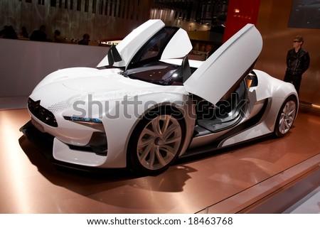 PARIS, FRANCE - OCTOBER 02: Paris Motor Show 2008, Citroen GT Concept, front view - stock photo