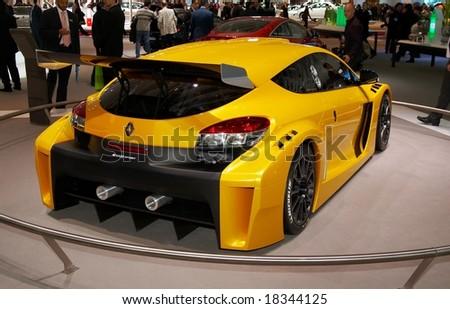 PARIS, FRANCE - OCTOBER 02: Paris Motor Show  on October 02, 2008, showing Renault Megane Trophy, rear view. - stock photo