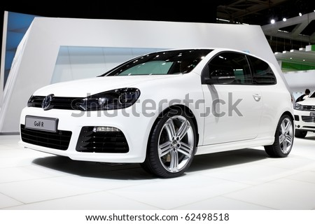 PARIS, FRANCE - SEPTEMBER 30:Volkswagen Golf R at Paris Motor Show on September 30, 2010 in Paris - stock photo