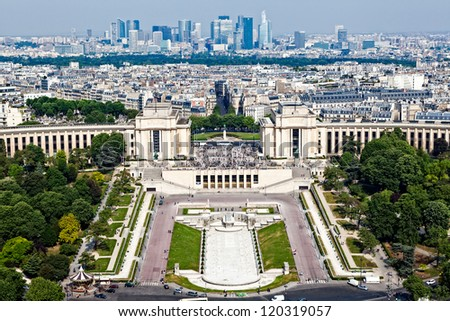Paris from the Eiffel Tower - stock photo