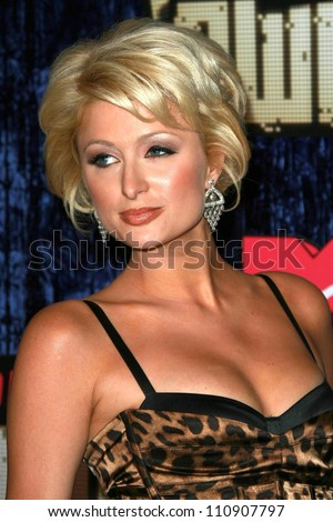 Paris Hilton arriving at the 2007 MTV Video Music Awards. The Palms Hotel And Casino, Las Vegas, NV. 09-09-07 - stock photo