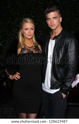 Paris Hilton, River Viiperi at the Topshop Topman LA Opening Party, Cecconis, West Hollywood, CA 02-13-13 - stock photo
