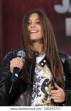 Paris Jackson at Michael Jackson Immortalized at Grauman's Chinese Theatre, Hollywood, CA 01-26-12 - stock photo