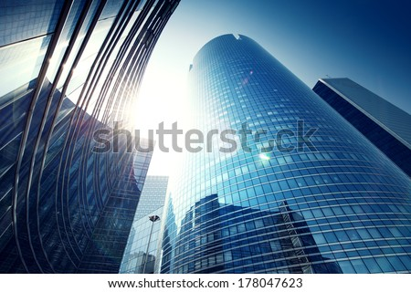 Paris LaDefense - modern skyscraper - stock photo
