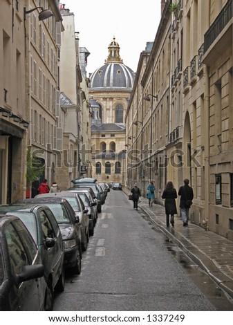 Paris Left Bank street - stock photo