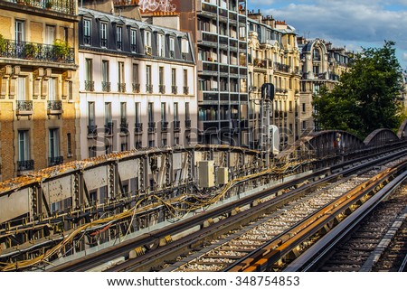 Paris metropolitan open area.  - stock photo