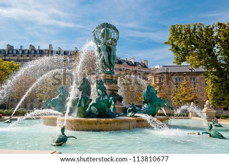 Paris, St Germain des Pres Church - stock photo