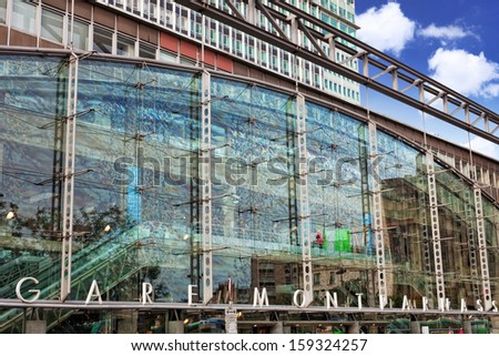 Paris train Rail Station -Gare Montparnasse. France. - stock photo