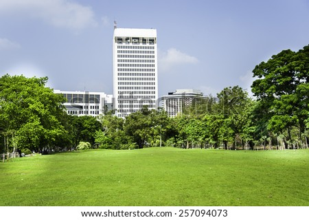 Park at sunny day - stock photo