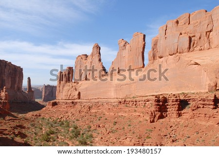 Park Avenue at Arches National Park in Utah, USA - stock photo