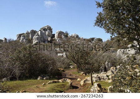 Park El Torcal de Antequera is a nature reserve in the Sierra del Torcal mountain range 