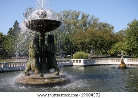 Park Fountains - stock photo