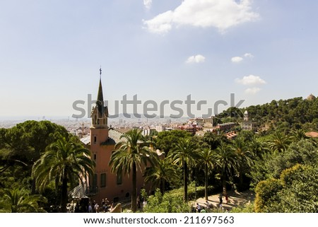 Park Guell in Barcelona, Spain - stock photo