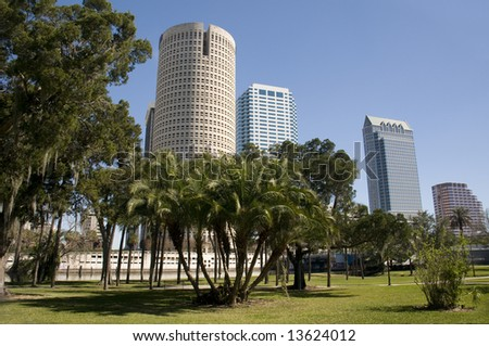 Park in Downtown Tampa - stock photo