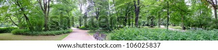 Park in spring time - stock photo