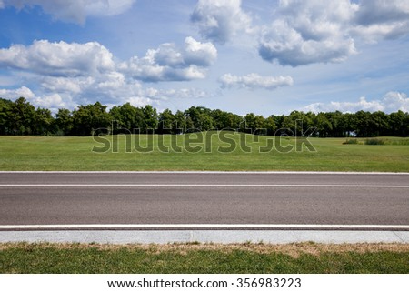 Park road - stock photo