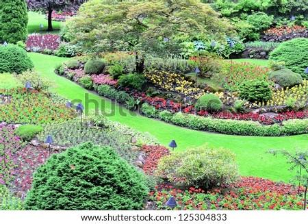 Park scenery - stock photo