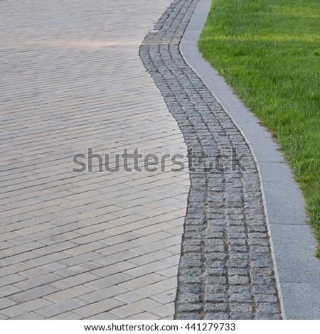 Park sidewalk   - stock photo