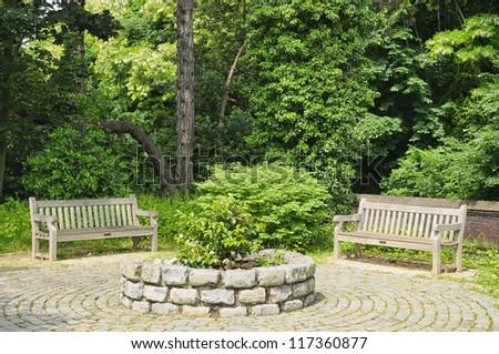 Park Sobieski in Brussels, Belgium - stock photo