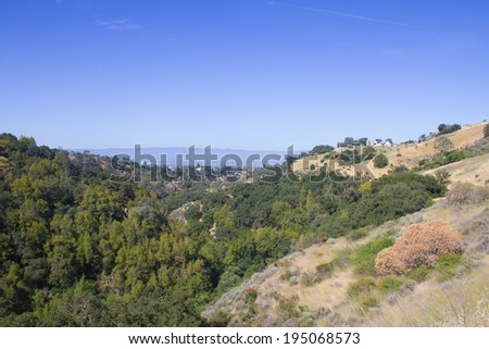 Park view at Alum Rock, San Jose, California, USA. - stock photo