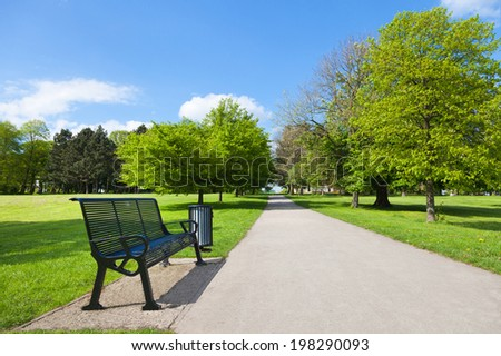 Park view in summer - stock photo