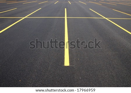 parking lot - stock photo