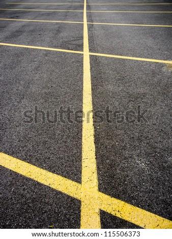 Parking lot. Shallow DOF - stock photo