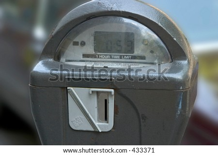 Parking meter - stock photo