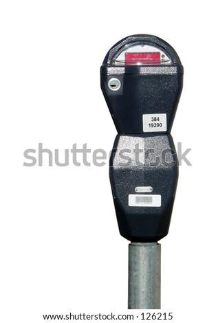 Parking meter stock - stock photo