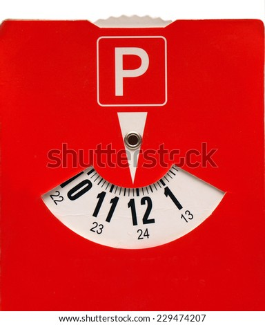 Parking time pointer or clock close up       - stock photo