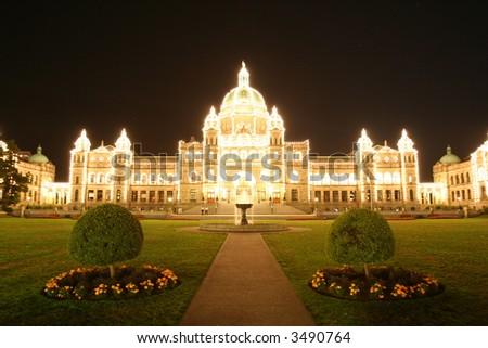 Parliament Building in victoria - stock photo