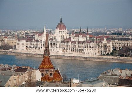 parliament house in Budapest, capital of Hungary - stock photo
