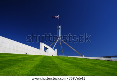 Parliament House in Canberra, Australia - stock photo