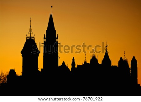 Parliament Silhouette - stock photo