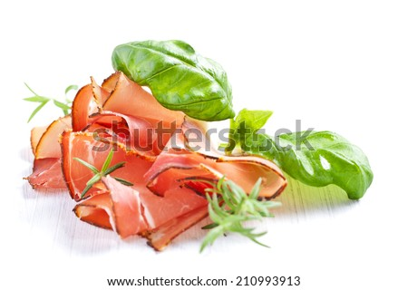 Parma ham.  - stock photo