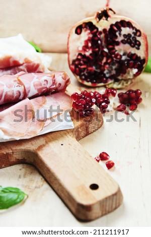 parma ham  - stock photo
