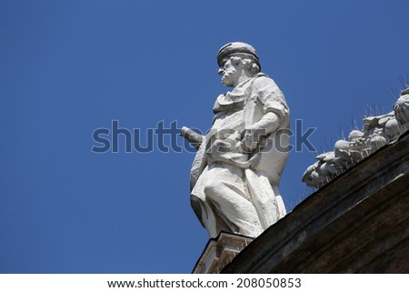 PARMA, ITALY - MAY 01, 2014: Statue of Saint. Basilica Santa Maria della Steccata. Basilica is a Marian shrine made ??in Parma between 1521 and 1539 and in 2008 elevated to the rank of minor basilica - stock photo